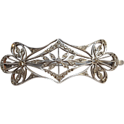 Victorian Aluminum rhinestone barrette