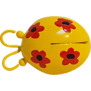 Enamel ladybug pin flower spots