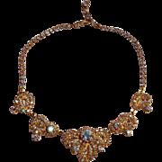 Aurora borealis rhinestone choker necklace