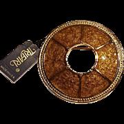 Trifari enamel.  circle wreath pin