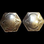 Taxco sterling silver earrings Southwest design