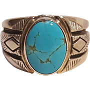 Carol Felley south west sterling silver turquoise ring