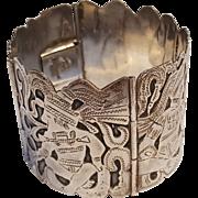 900 Silver Guatemala storyteller bracelet hallmarked