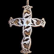 Silver Cloud sterling silver cross pendant