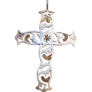 Silver Cloud sterling silver cross pendant
