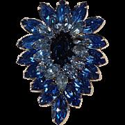 Kramer New York blue rhinestone pin