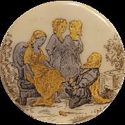 Cinderella porcelain fairy tale button