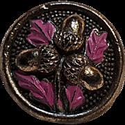 GAP Acorn button metallic painted processed wood