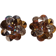 Vendome earrings rivoli crystals silver topaz