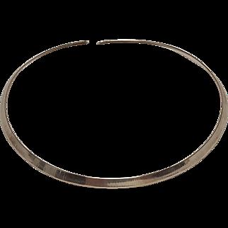 Ed Levin sterling  silver choker necklace minimalist modern