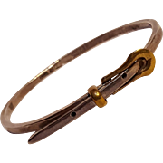 Sterling silver Mexico bracelet buckle motif