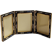 Italian mosaic triple  desk top picture frame