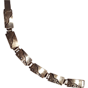 Sterling silver bracelet Modernist plaques wearable art