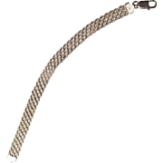 Sterling silver woven mesh bracelet Italy