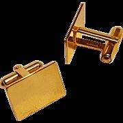 Simmons 14Kt Gold cufflinks rectangular yellow gold