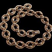 Danecraft sterling silver necklace Modernist design hollow links