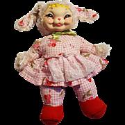1950's Rushton Star Creation bunny rabbit rubber face plush stuffed toy