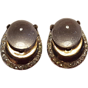 Jelly belly horseshoe earrings screw back findings rose gold plate