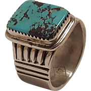 EDE Navajo sterling silver turquoise ring Native American