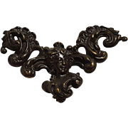Art Nouveau Gibson girl brass buckle repousse