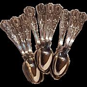 Naval Kings International Silver demitasse spoon set of 10 silver plate