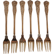 Seafood fish fork set USN Kings pattern International Silver