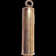 Webster sterling silver needle case pendant tubular