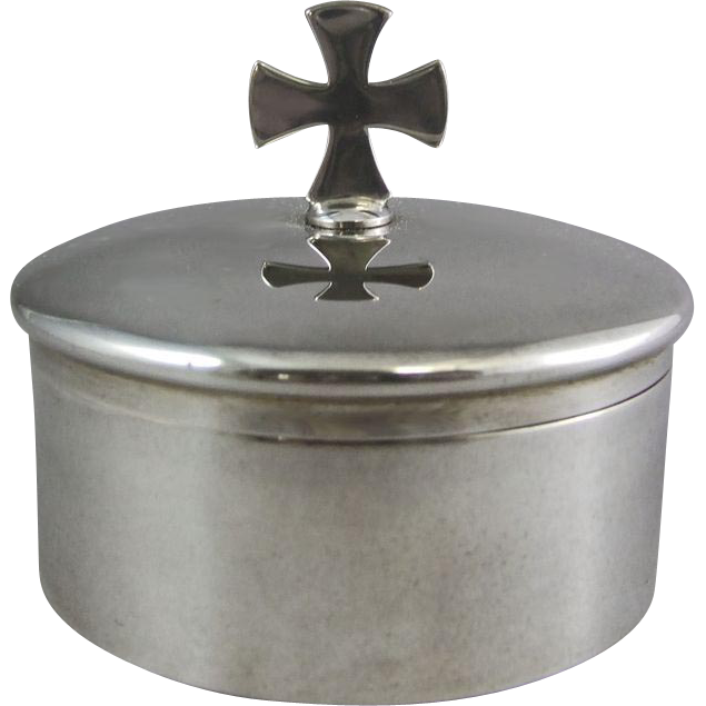 Gorham Sterling Silver Pyx Communion Sacrament Box