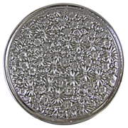 "Towle Contessina Silver Plated Floral Repousse Trivet 8"" Footed Tray"