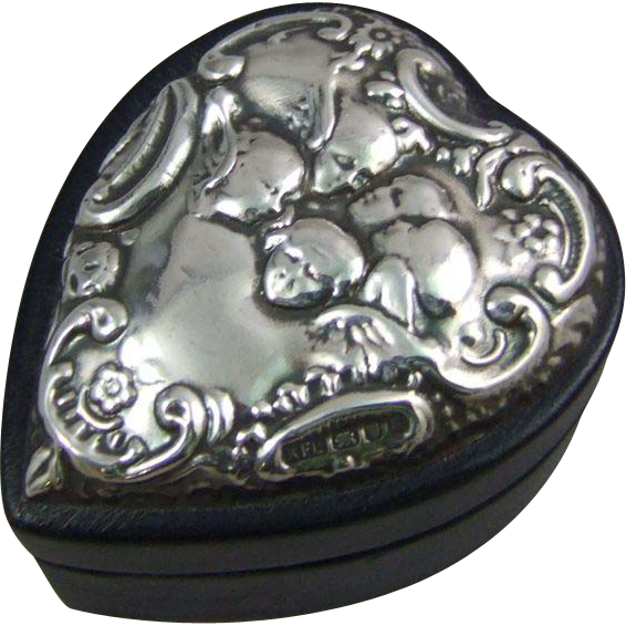 Keyford Frames Ltd Sterling Silver Heart Box with Reynold's Angels