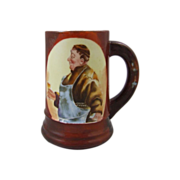 Limoges France Tankard Toasting Mug with Friar Tuck Brewmaster