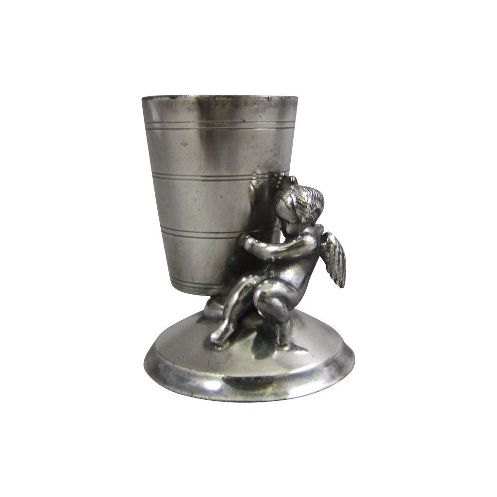 Rockford Silver Plated Toothpick Holder Cherub Cupid
