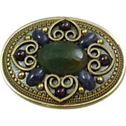 Michal Golan Mixed Metals Oval Brooch