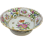 Carl Thieme Reticulated Dresden Porcelain Center Bowl