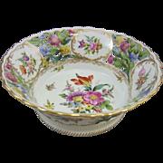 Carl Thieme Reticulated Dresden Porcelain Center Bowl