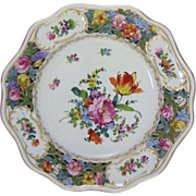 "Carl Thieme Reticulated Dresden Porcelain 10"" Cabinet Plate"