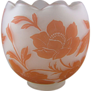 Bohemian Cameo Glass Rose Bowl