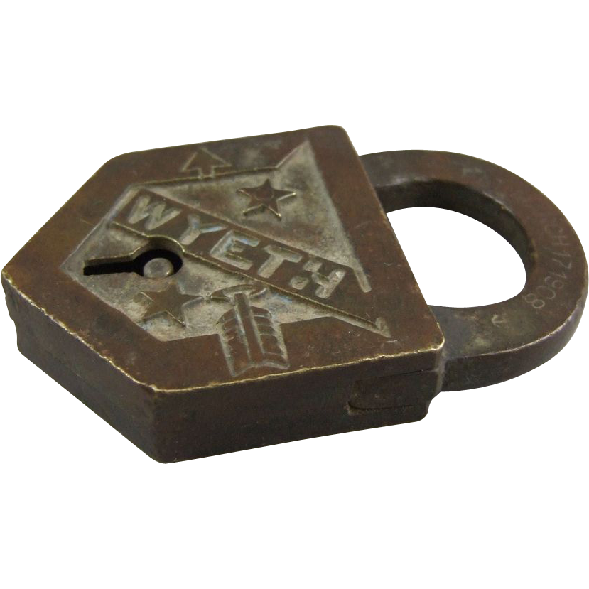 Antique Lock C1908 Wyeth Padlock