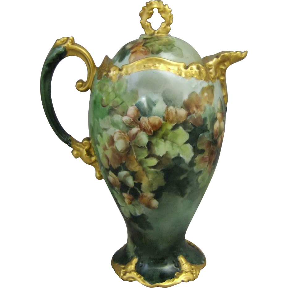 Limoges Hand Painted Chocolate Pot