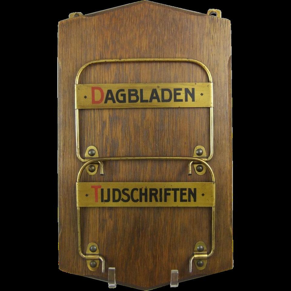 Dutch Newspaper Magazine Rack Dagbladen Tijdschriften