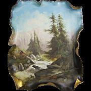 Julius Dressler Bohemian Austrian Jugendstil Ceramic Plaque