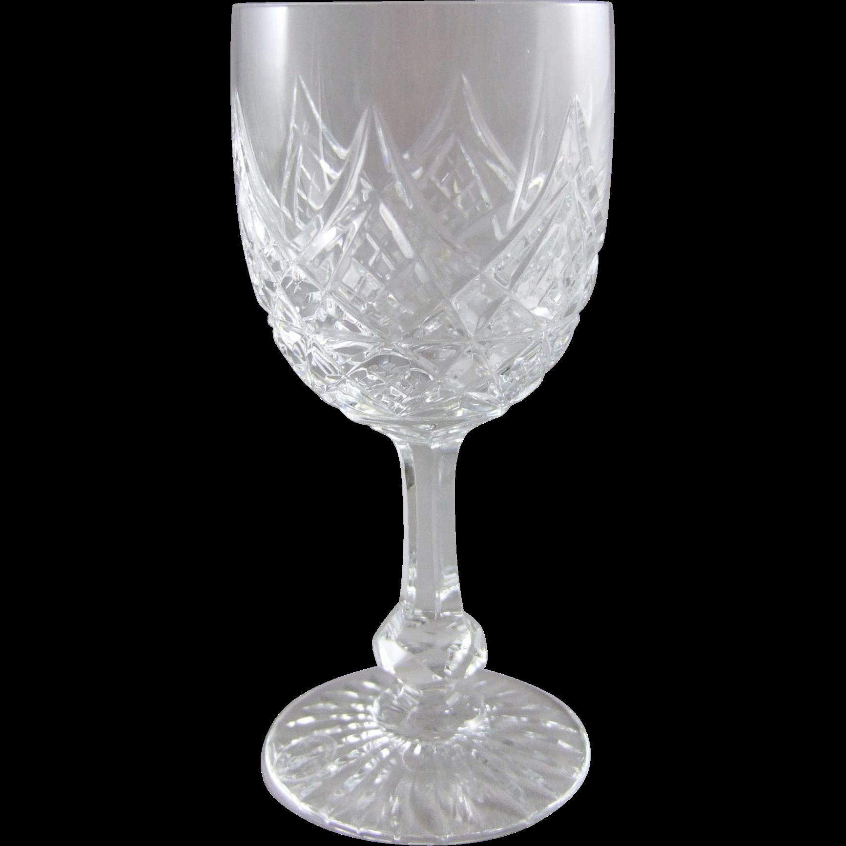 baccarat france cut crystal wine glass