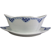 Royal Copenhagen Princess Sauce Boat Gravy Boat on Fixed Stand
