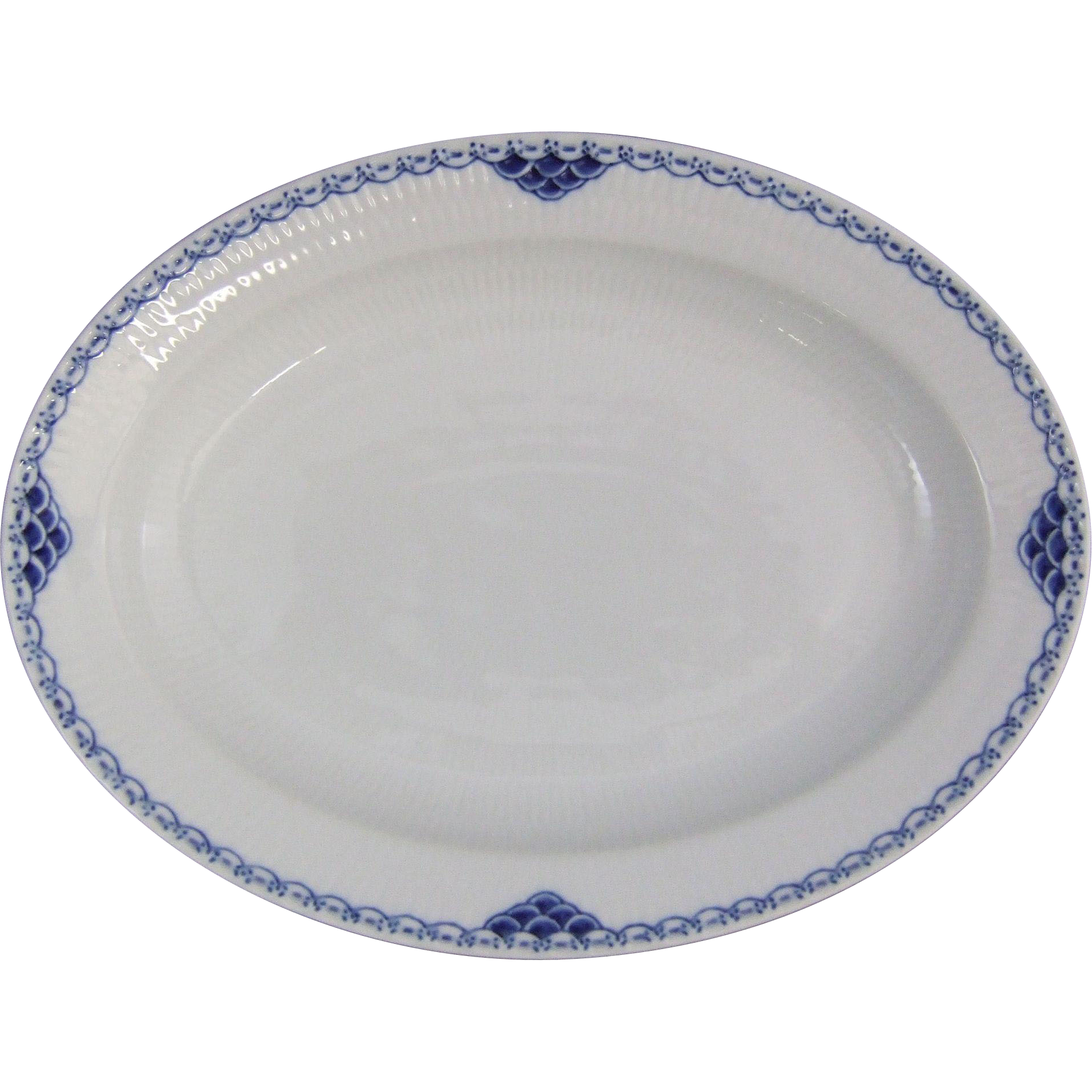 Royal Copenhagen Denmark Princess Service Oval Porcelain Serving Platter