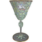 Venetian Murano Enameled Wine Glass