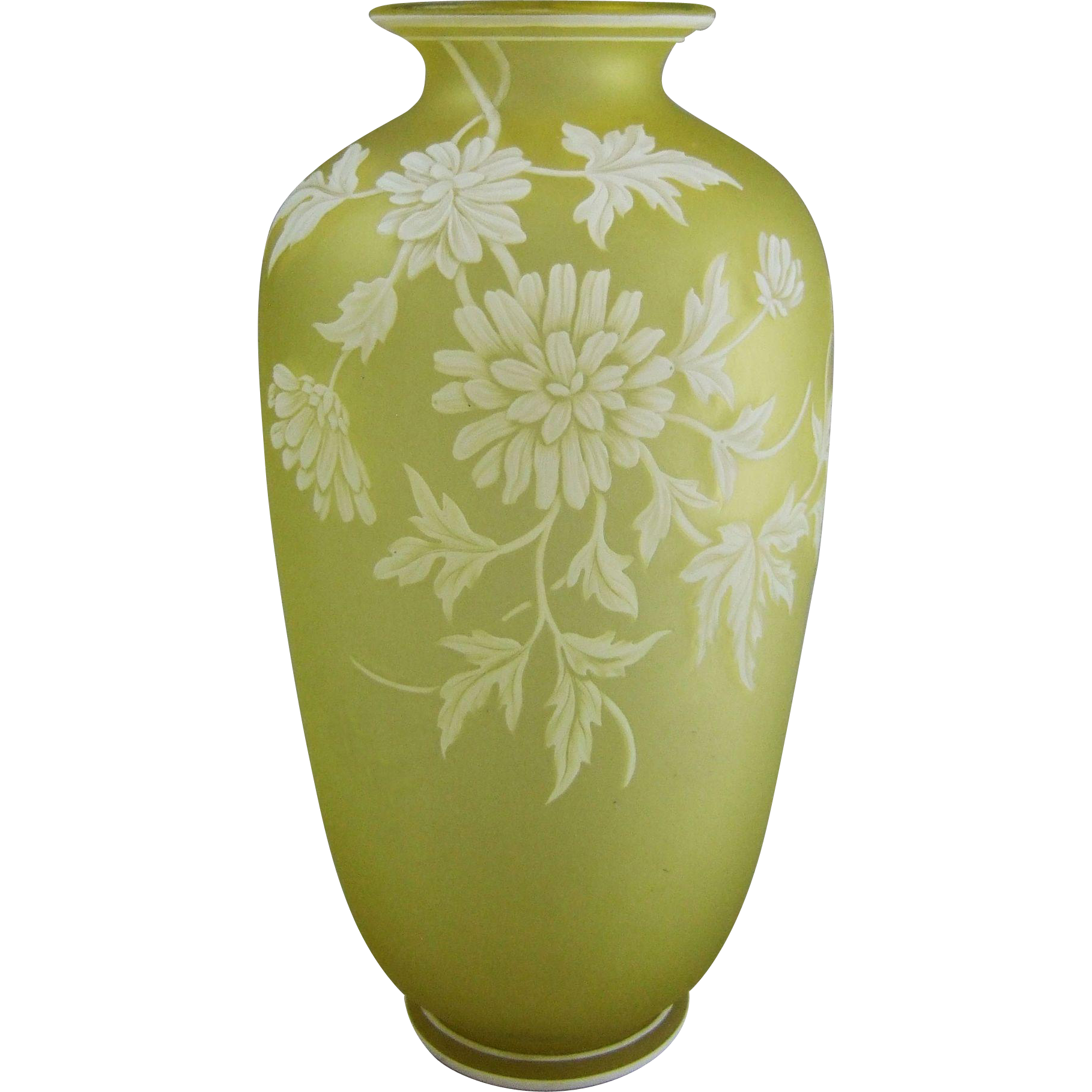 Thomas Webb & Sons English Cameo Glass Vase 9.5""