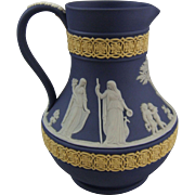 Wedgwood Three Color Jasperware Etruscan Pitcher