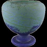 Daum Frères French Art Deco Glass Vase
