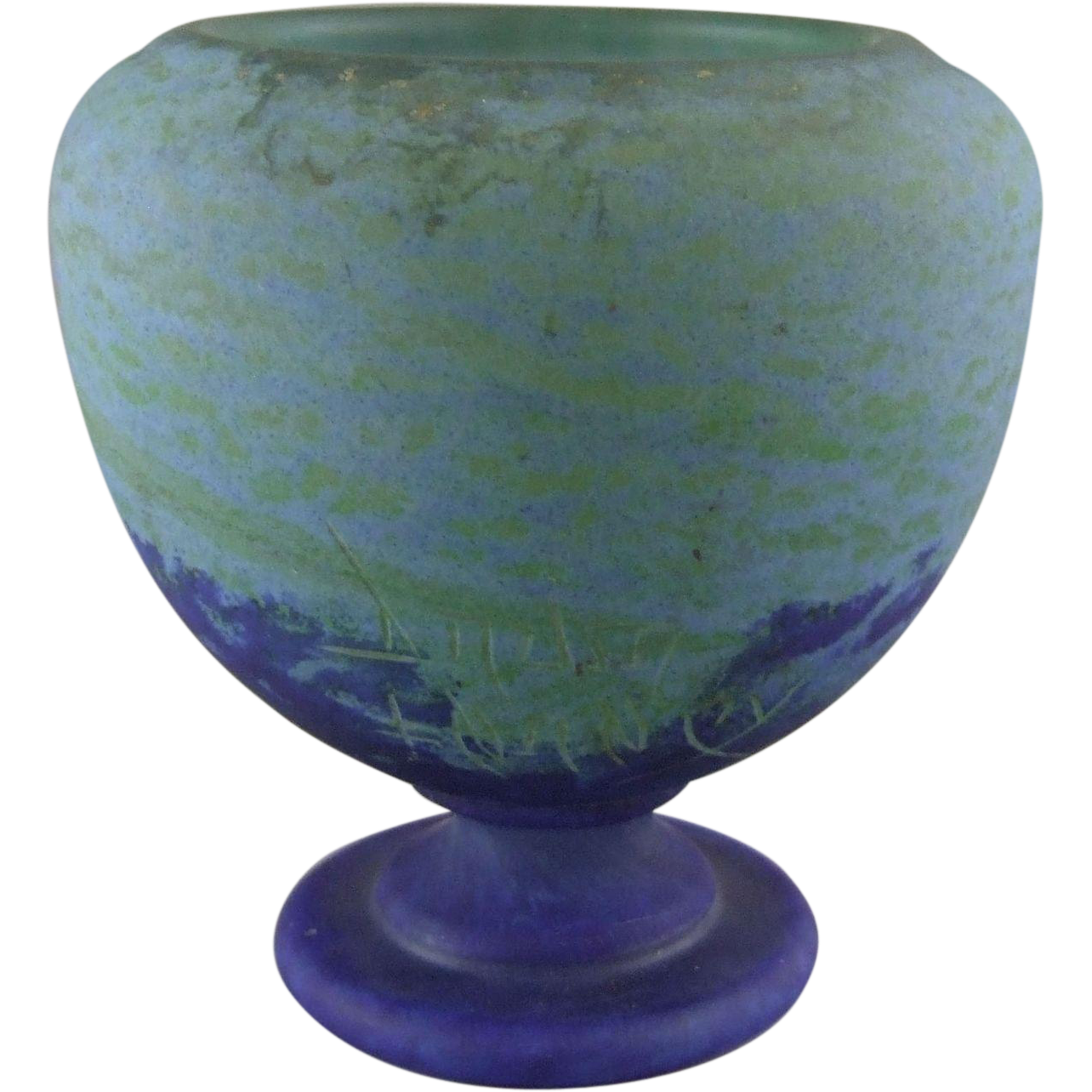 Daum Frères French Art Deco Glass Vase