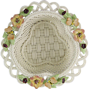 Belleek Honeysuckle Basket 2737